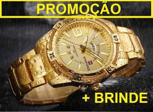 Relógio Masculino Original Naviforce 9117 Quartz Brinde