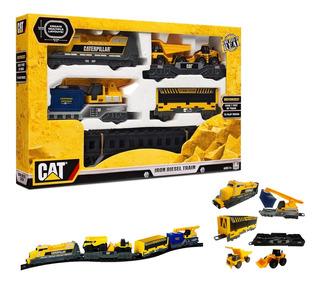 Tren A Pilas Cat Caterpillar Coleccion Original 2 Metros St