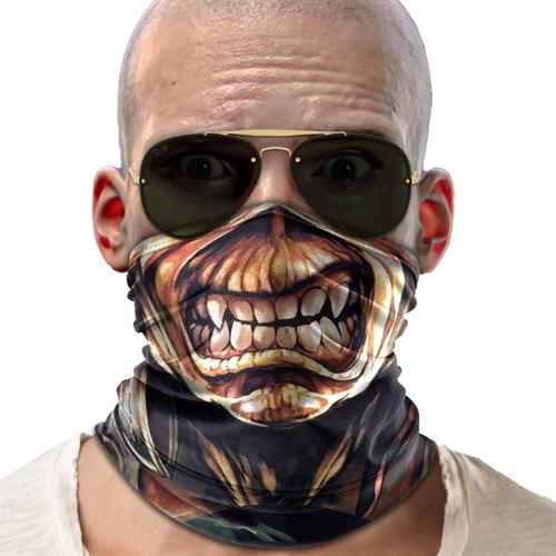 Bandana Mascara Iron Maiden Lenço Moto Ciclismo Proteção 01