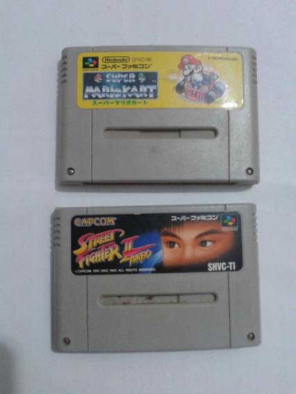 Lote Super Mario Kart E Street Fighter 2 Turbo