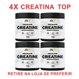 4x Creatina Gs Nutrition Pote 150g