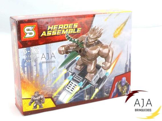 Boneco Brinquedo Lego Groot 59 Peças P/e