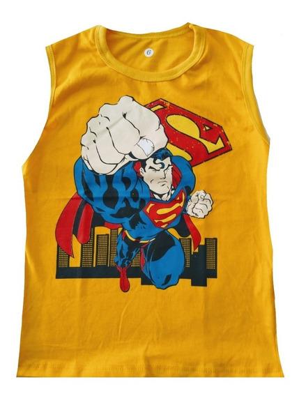 Kit C/10 Camiseta Camisa Regata Infantil Personagens Heróis