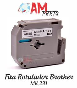 Fita Branca Compativel Rotulador Brother Pt-65 Pt-80 Pt-85