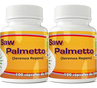 2 Potes Saw Palmetto - Serenoa Repens 100 Cápsulas De 500mg