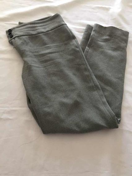Pantalón De Vestir Mujer Gris Talle 40 Marca Vía Roma
