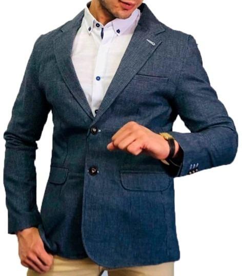 Blazer Saco Para Hombre Color Marino Nuevo Antonio Peaceful