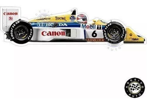 Adesivo Nelson Piquet Williams Fw11b 1987 Formula 1 Carros