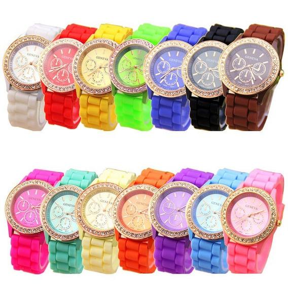Relógio Geneva De Pulso - Feminino - Quartzo Aço Inoxidável