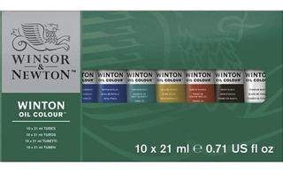 Pintura Óleo Winsor And Newton Winton Con 10 Tubos De 21ml