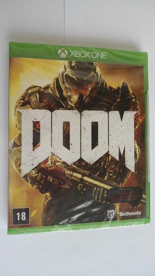 Doom 2016 Xbox One Mídia Física Lacrado Bethesda Fps Id Tech