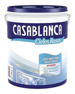 Pintura Latex Para Cielorraso Casablanca Antihongo X 4lts - Prestigio