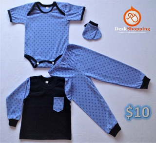 Pijamas De Bebé Talla 1 (3-6 Mese) - $10 - Conjunto De Seis