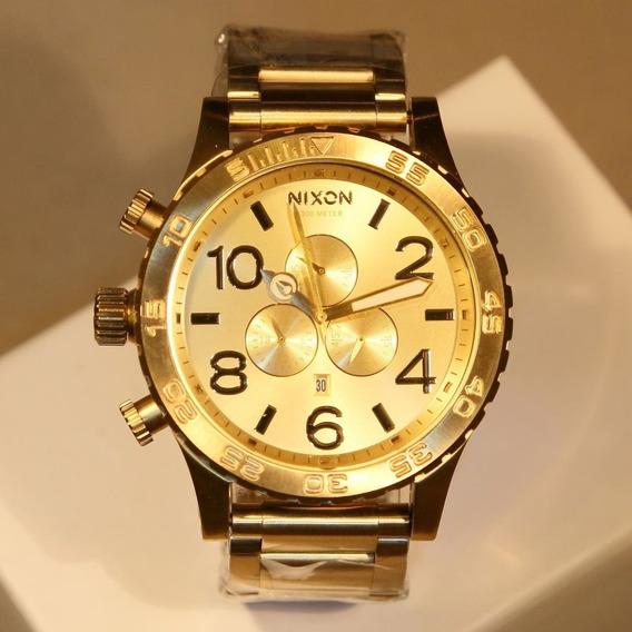 Relógio Ty56 Nixon 51-30 Dourado Chrono Banhado Ouro 18k