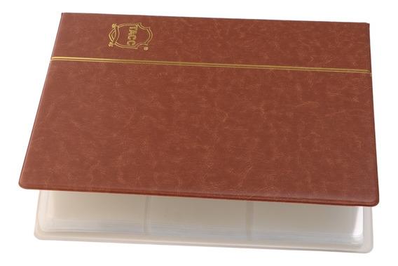 Coleção De Dinheiro De Papel 60 Bolsos, Álbum De Couro Bill