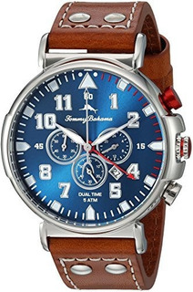 Tommy Bahama Men S Acero Inoxidable Y Piel Casual Reloj De C