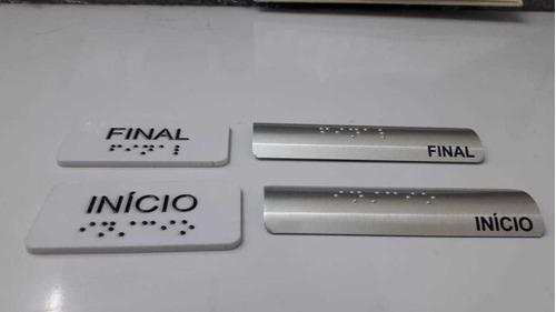 16pçs Placa Corrimão+placa Parede Conformr Nbr 9050 2020