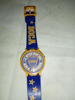 Futbol Coleccion Reloj Pulsera Boca Juniors Digital Plastico