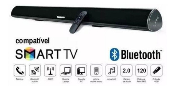Caixa Som Sound Bar P/ Tv C/ Bluetooth 120w Tomate 2016