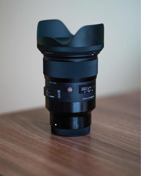 Lente Sigma Art 24mm F1.4 Sony E-mount + Filtro Ndv Greika