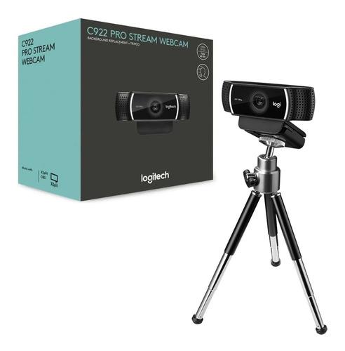 Imagem 1 de 3 de Webcam Logitech C922 Hd Pro Full Hd 1080p Tripé Stream Lives