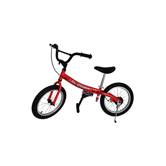 Glide Bikes Kids Go Glider Balance Bike, Rojo, 16 Pulgadas