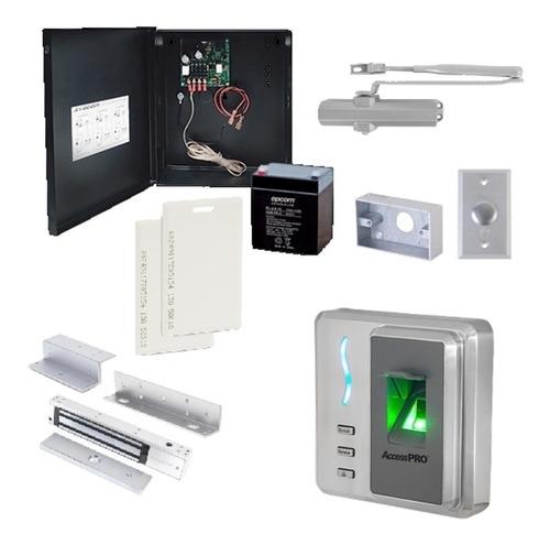 Imagen 1 de 6 de Kit Control De Acceso Biometrico  Huella Y Proximidad Sf101