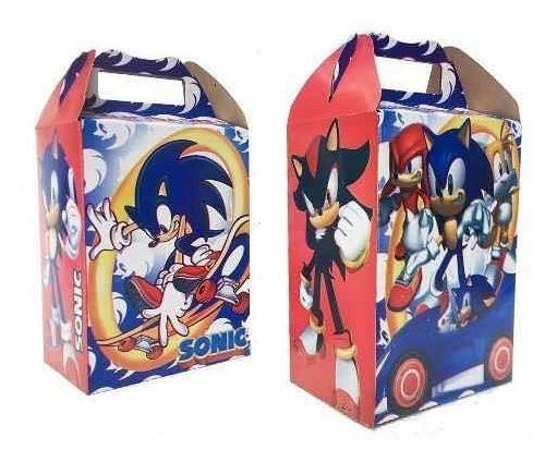 10 Cajas Dulceras Sonic Fiesta Bolo