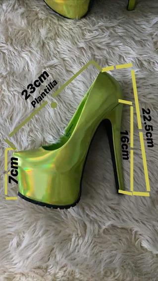Zapato Taco Aguja 16cm Importados
