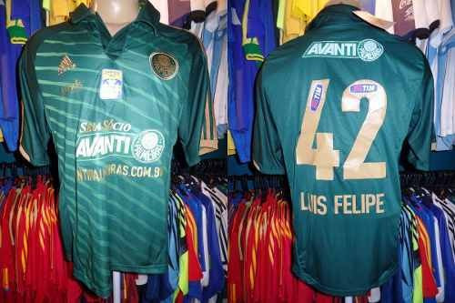 Palmeiras 2013 Camisa Reserva Tamanho G #42 Luis Felipe.