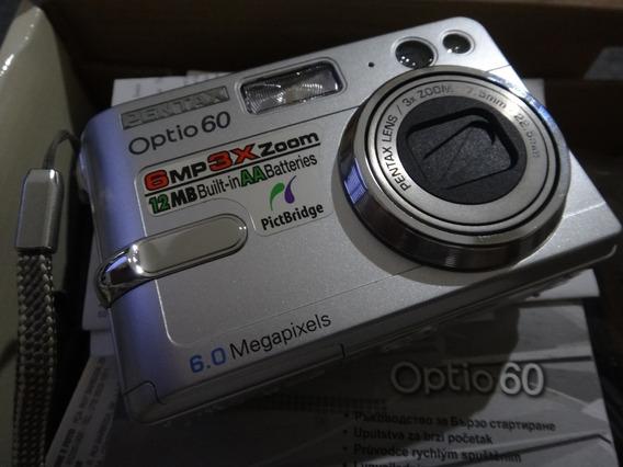 Pentax Optio 60 Perfeito Estado Zoom Óptico 3x 6mp + Caixa