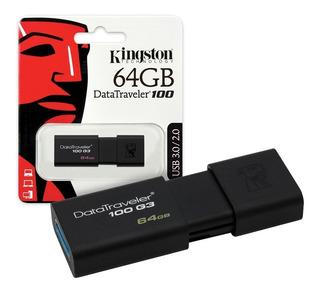 Pendrive Kingston 64gb Usb 3.0 3.1 Datatraveler 100