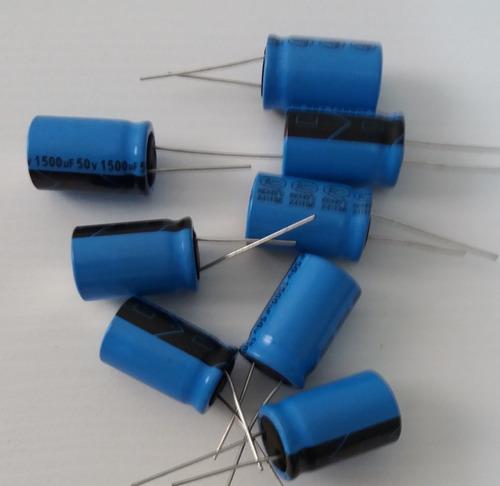 Imagem 1 de 1 de Capacitor Eletrolítico 1500uf X 50v - Kit Com 50 Unidades