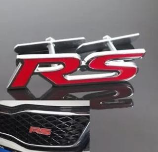 Logo Emblema Rs Rojo Parrilla Grill Auto Rg_imports