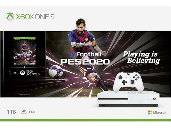 Console Microsoft Xbox One S 1tb + Pes 2020