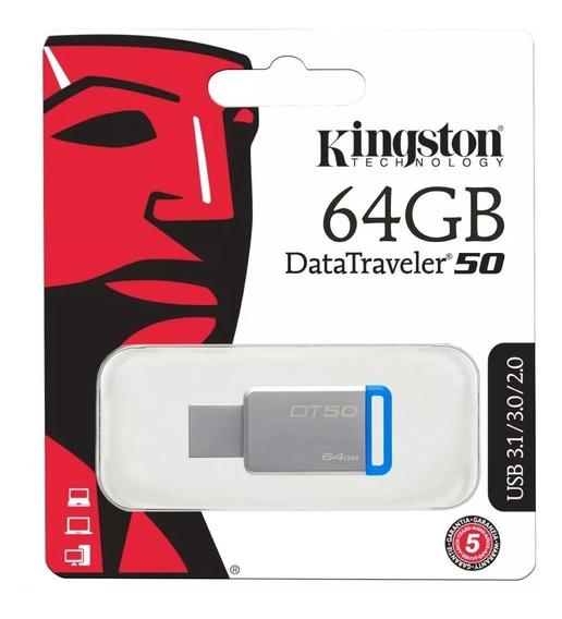 Pendrive Kingston 64gb Usb 3.1/3.0/2.0 Datatravel (21)