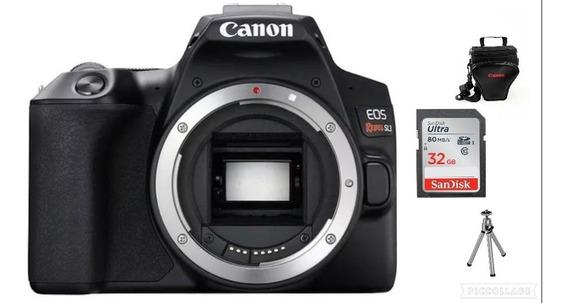 Canon Eos Sl3 Corpo - 24.1 Mp+32gb+bolsa+tripé