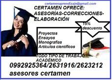 Se Hacen Trabajos Académicos, Tesis Ensayos, Monografías