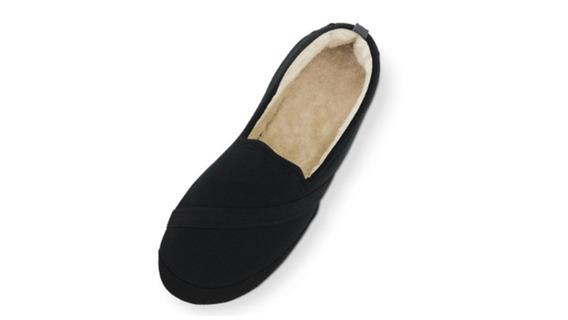 Pantuflas Con Suela. Dama. Color Negro. Talla Mediana