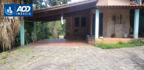 Imagem 1 de 8 de Chácara Com 3 Dormitórios Para Alugar, 1000 M² Por R$ 2.500,00/mês - Jardim São Jorge - Arujá/sp - Ch0048