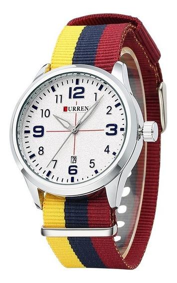 Relógio Curren 8195 Esportivo Original Masculino Barato