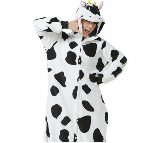 Pijama Disfraz Kigurumi Vaca Vaquita De Polar Para Adultos