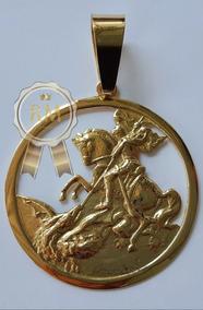 Pingente São Jorge 15g De Ouro 18k 750.