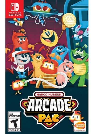 Namco Museum Arcade Pac Switch Mídia Física Novo Lacrado