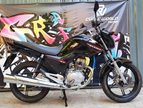 Moto Honda Titan Cg 150 Negro 2020 Impecable Tarjetas 12y18