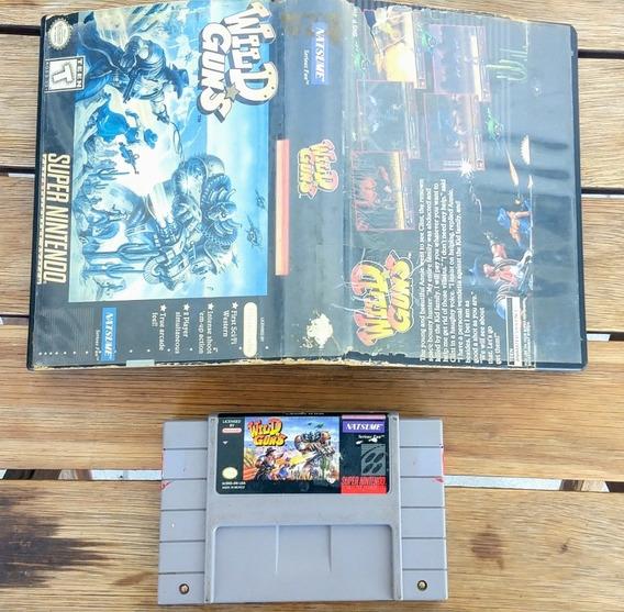 Cartucho Wildguns Original Super Nintendo Snes Na Caixa Raro