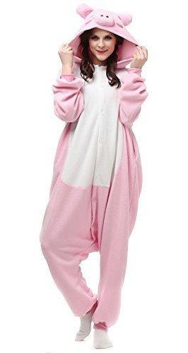 Vu Roul Unisex Adulto Kigurumi Onesie Pig Costume Animal Sle