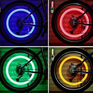 Luz Led Para Bicicleta/motocicleta/auto Llanta Viaje Seguro!