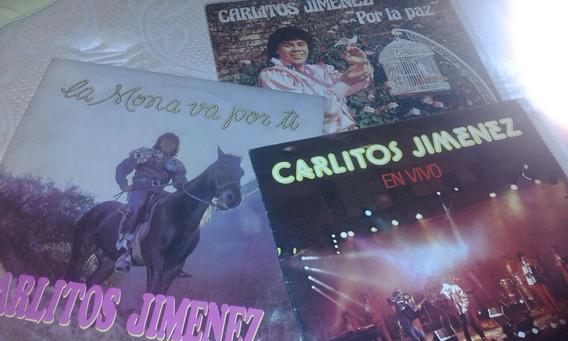 Carlitos Mona Jiménez Vinilo Lp (x3) Por La Paz, En Vivo Etc