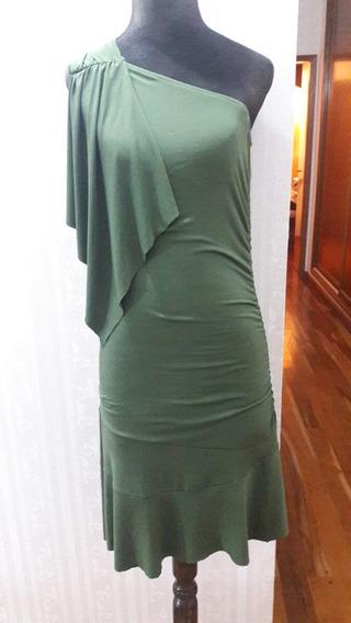 Vestido Verde Oscuro Talle S Hasta La Rodilla